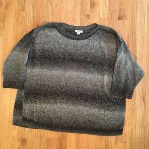 Croft & Barrow gray/black stripe sweater 2x